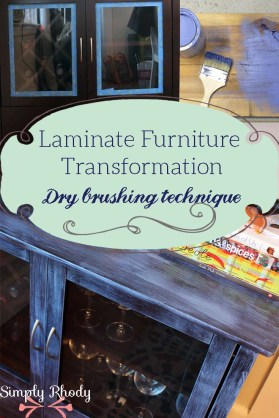 Target Cabinet Makeover How To Dry Brush Laminate Furniture